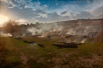 Ruvo del Monte (PZ) si bruciano le potature