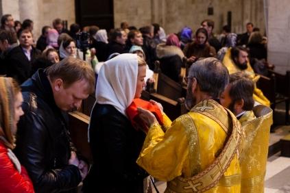 19 dicembre 2012, celebrazioni di San Nicola secondo il rito ortodosso nella Basilica di Bari