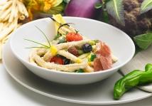 Un piatto cucinato realizzato in studio dallo Chef Francesco Paldera