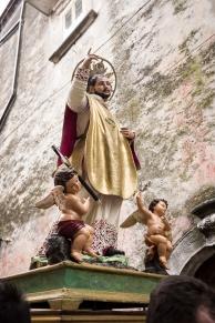 Vico del Gargano (FG) - 14 febbraio 2014 (San Valentino) durante la processione del Santo