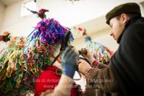 Aliano (MT) , 04 marzo 2014 (martedì grasso). La preparazione delle Maschere nella Chiesa Madre in ristrutturazione