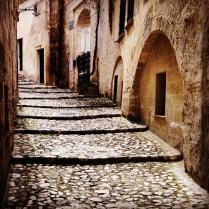 Matera, un vicolo nei Sassi