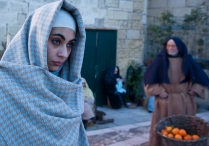 Matera, prove per il Presepe Vivente nei Sassi, dicembre 2012