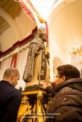 Preparativi per la processione in onore di Sant'Antonio Abate a Nòvoli (LE)