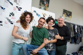 Gruppo di Famiglia alla I.CO.MAN 2000, proprietaria del marchio Berwich. Da sinistra Antonella Fumarola, Massimo Gianfrate, Graziana Fumarola e Michele Fumarola. (Martina Franca TA)