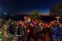La processione si sta avviando verso valle, Mezzana, frazione di San Severino Lucano.