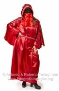 Maria Donata Mancone, nel suo costume di domino rosso