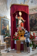 La statua di Sant'Ippazio, protettore di Tiggiano e degli organi maschili, nell'omomima Chiesa.