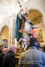 L'uscita della Statua di Sant'Ippazio.