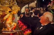 Bitonto (BA), Chiesa di San Domenico, notte del Venerdì Santo,Perparazione della Processione dei Misteri, anno 2011