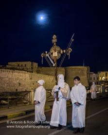 Gallipoli (LE): processione della Madonna Desolata che inizia prima dell'alba del Sabato Santo. Anno 2016