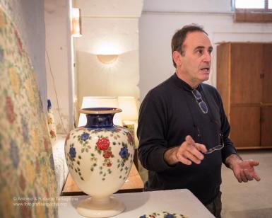 Francesco Fasano nel suo Show Room