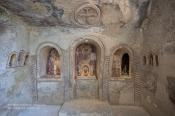 """La """"Casa Vestita"""". Qui siamo nella Chiesetta rupestre scoperta durante i lavori di ristrutturazione"""
