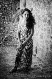Lucia Virgallito, nel gruppo delle ricamatrici sin dalla prima edizione. (Foto agosto 2014)