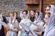 lunedì 22 maggio 2017, Coro di San Pietroburgo durante la liturgia ortodossa nella Basilica di San Nicola a Bari.