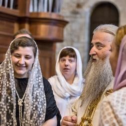 lunedì 22 maggio 2017, il Metropolita di Saratov e Wolski, Longin, con il Coro di San Pietroburgo nella Basilica di San Nicola a Bari