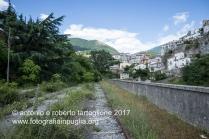 veduta di Lagonegro (PZ) dalla stazione ferroviaria in disuso.