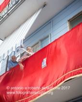 16 settembre 2016, Tolve (PZ), Festa di San Rocco,balconi addobbati per la processione