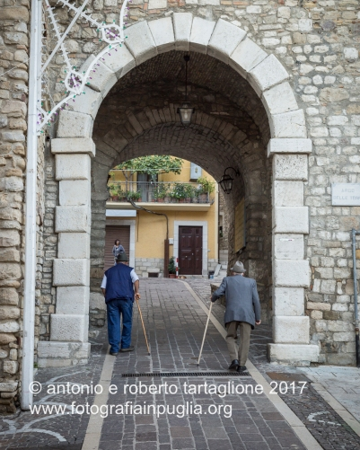 16 settembre 2016, Tolve (PZ), festa di San Rocco, l'ingresso del centro storico