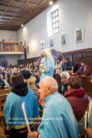 Rapone (PZ) La preparazione per la processione con la statua della Madonna del Rosario