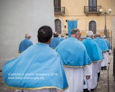 Rapone (PZ) la processione della Candelora con la statua della Madonna del Rosario