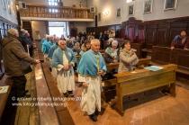 Rapone (PZ) il rientro dei confratelli dopo la processione della Candelora