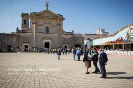 L'arrivo al Santuario di San Cosimo alla Macchia presso Oria (BR).