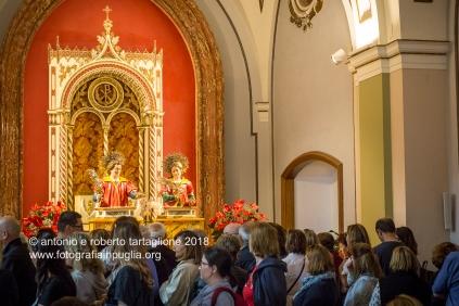 L'interno del Santuario di San Cosimo alla Macchia, nelle campagne intorno ad Oria (BR).