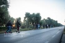 Il pellegrinaggio a piedi da Francavilla Fontana ad Oria alle prime luci dell'alba