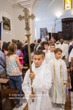 Muro Lucano (PZ), partenza della processione nella Concattedrale di San Nicola