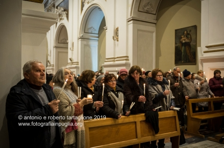 Santuario di Montevergine (Mercogliano AV). La celebrazione della Candelora nella Chiesa Vecchia. Benedizione delle candele