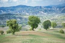 Paesaggio dal Santuario di Santa Maria di Orsoleo (Comune di Sant'Arcangelo PZ)