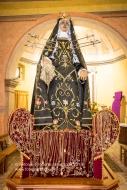 La statua della Madonna Addolorata nella Cappella di Sant'Anna a Sant'Arcangelo (PZ)