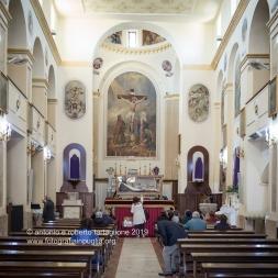 La Chiesa Madre di San Nicola a Sant'Arcangelo, la mattina del Venerdì Santo