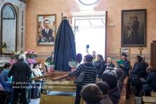 La partenza della Processione dell'Addolarata la mattina del Venerdì Santo a Sant'Arcangelo (PZ)