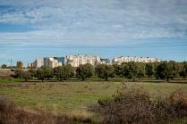 Taranto (TA); lungo l'antica ferrovia dismessa che collegava la Stazione Nasisi con l'Arsenale militare di Taranto, sito nel centro cittadino. In questo tratto è possibile vedere il quartiere Paolo VI.